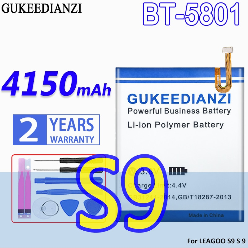 GUKEEDIANZI-Batería de alta capacidad, BT-5801, 4150mAh, para LEAGOO S9 S 9