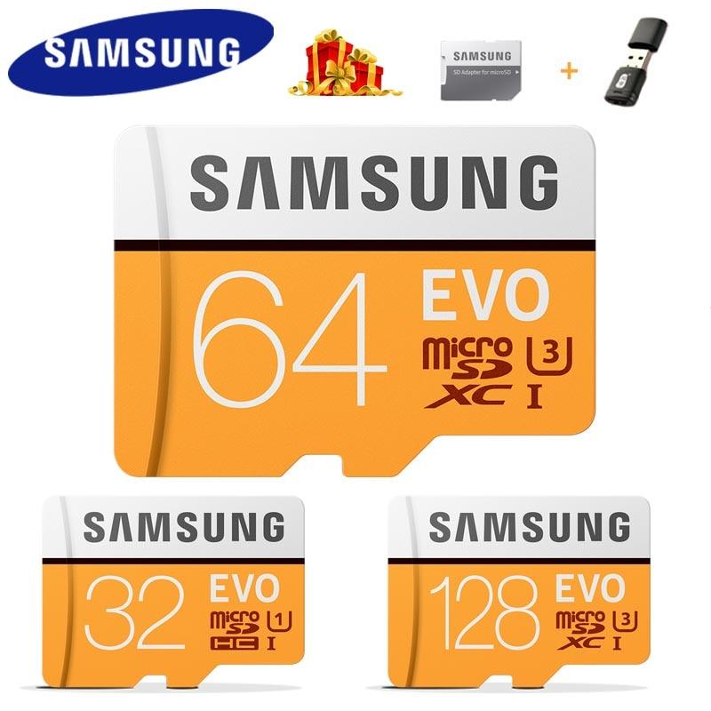 SAMSUNG tarjeta Micro SD tarjeta de memoria 32 gb 64GB Microsd de 128 gb SDHC C10 UHS-1 Max 95 MB/S flash memoria TF tarjeta EVO SDXC 4K Clase 10
