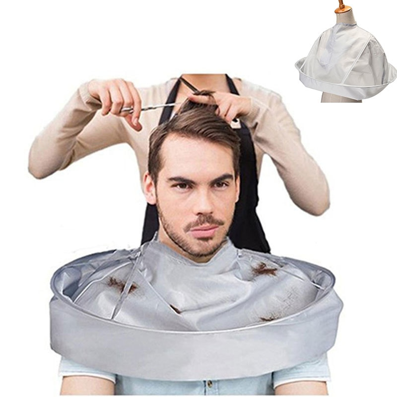 DIY Hair Cutting Cloak Umbrella Cape Cutting Cloak Wrap Hair Shave Apron Hair Barber Gown Cover Household Cleaning Protecter