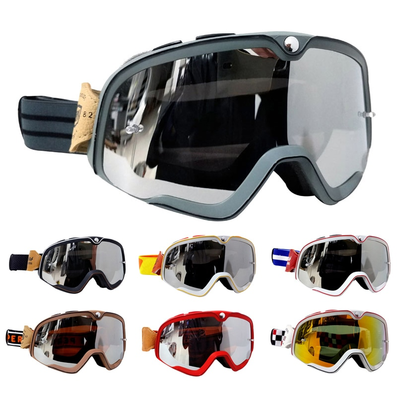 MX الرجعية دراجة نارية نظارات Steampunk النحاس نظارات نظارات للدراجات النارية Biker السائق نظارات نظارات يندبروف نظارات