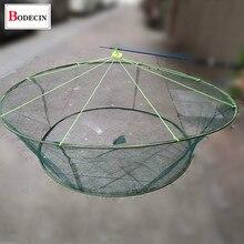 Dobrável pesca gota/desembarque/malha de isca de caranguejo de camarão de rede moldada para armadilha de peixes/cage crayfish catcher dobrável fundição rede
