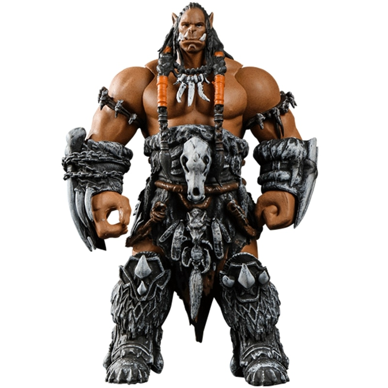 Welt von Warcraft WOW Ork Führer Durotan 11cm Confederated Tribes Arm Drehbare Garage Kits Hand Tun Kunststoff Modell