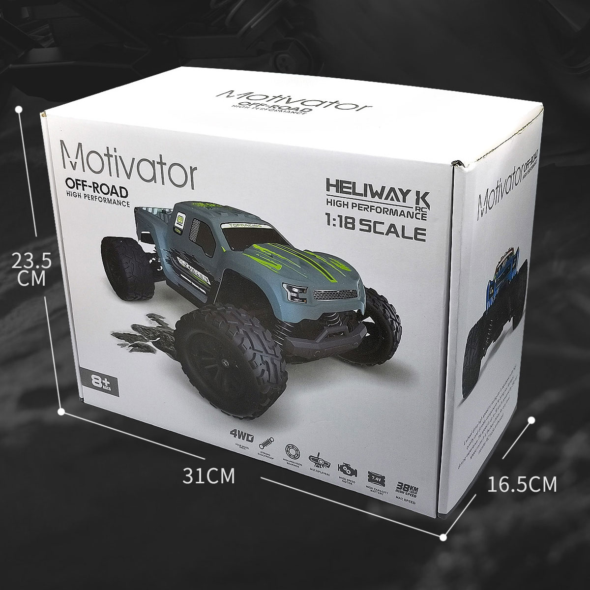 Nemocargo Remote Control Car RC Monster Truck Offroad 1:18 High Speed Radio Control Car Professional RC Toy Off Road 4x4 enlarge