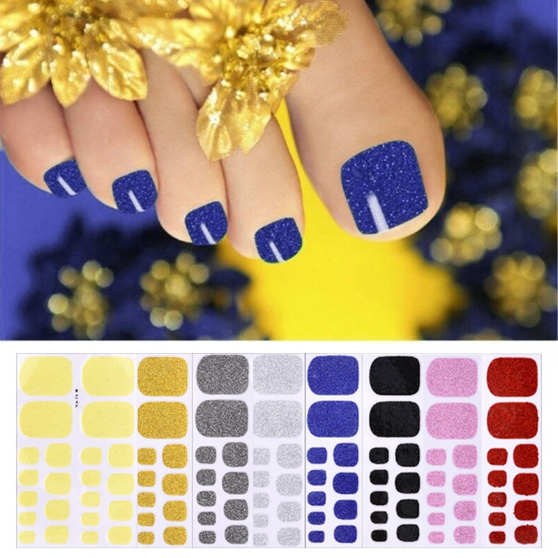 Nova cor rua unha polonês tiras pedicure regular queda & moda unha arte acessórios decoração ongles design para unhas