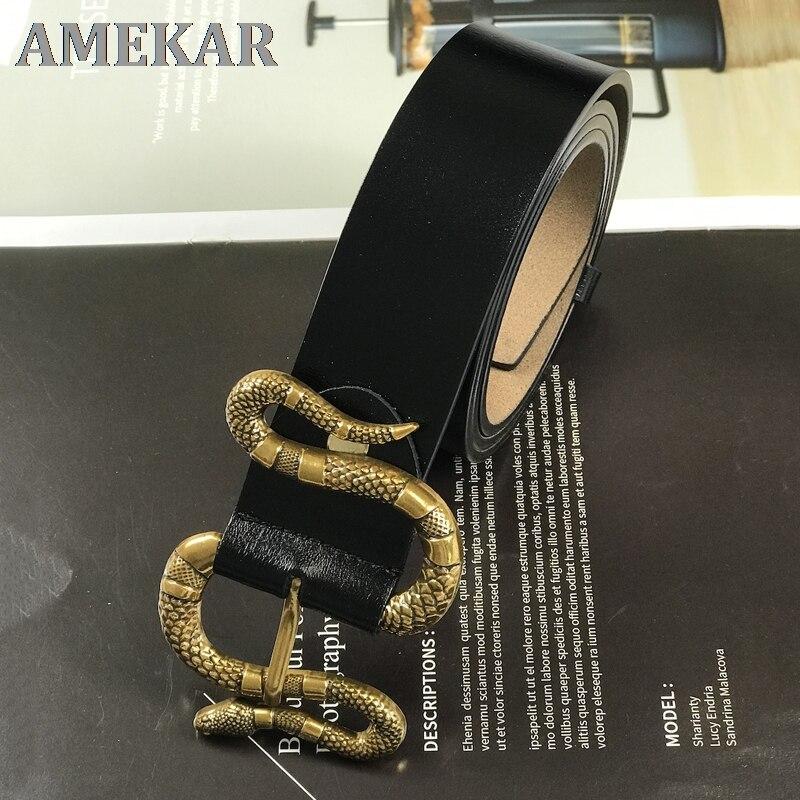 Luxury brand belts for women man waist g belt mens genuine leather cinturon mujer snake buckle high quality jeans ceinture femme