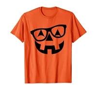 pumpkin shirt with glasses pumpkin nerd shirt t shirt