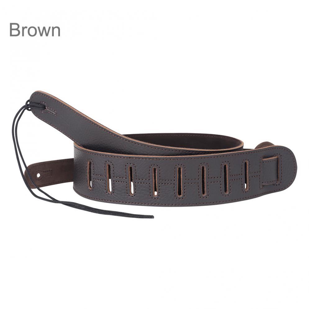 Adjustable Genuine Leather Suede Cowhide Guitar Strap for Acoustic Electric Guitar Bass  Guitar Belt Bass Strap enlarge