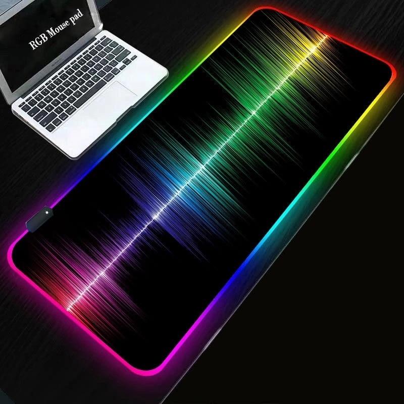 Alfombrilla de escritorio con luz LED xxl para ordenador de mapa del...
