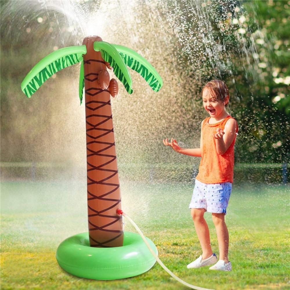 Надувная летняя игрушка для детей, водное поло, кокосовое дерево, распылитель воды, родитель-ребенок, Пляжная лужайка, имитация воды, кокосо...