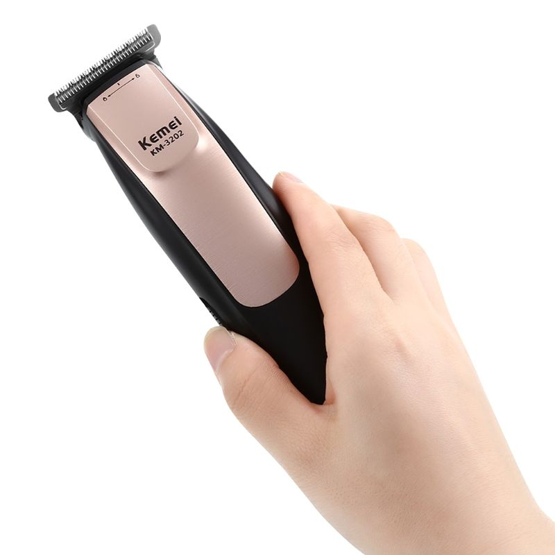 Kemei KM - 3202 USB аккумуляторная электрическая машинка для стрижки волос триммер для укладки стрижки дома Парикмахерская Салон
