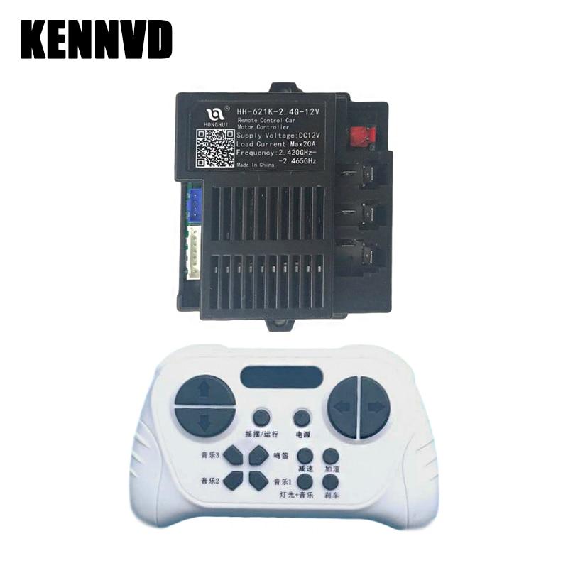 HH-621K-2.4G-12V Children's Electric car Bluetooth Remote Control Receiver, HONGHUI Ride On Toy Car Motor Controller Transmitter