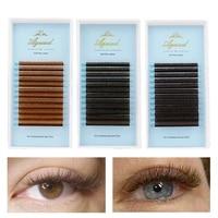aguud dark brown eyelash extensions mink 0 050 07 brown individual lashes light brown color eyelash cccddd soft silk lashes