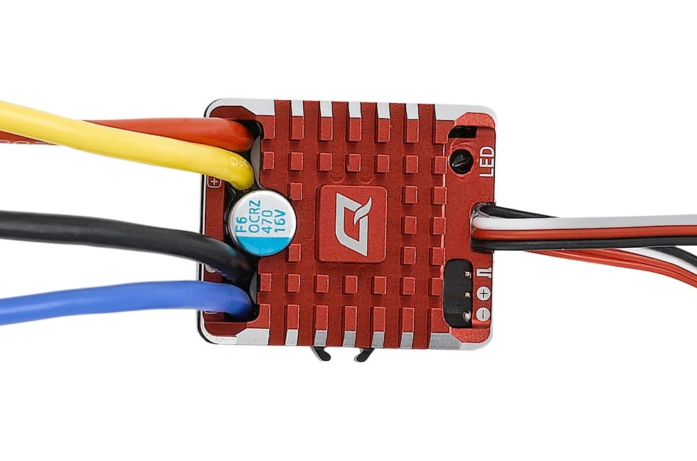 Hobbywing QUICRUN WP 1080 brushed (2-3S) Electronic Waterproof ESC With Program Box BEC XT60-Plug RC Car 1:10 enlarge