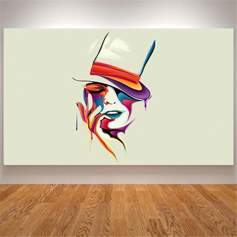 Pintura al óleo abstracta sobre carteles de lona e impresiones imágenes de...