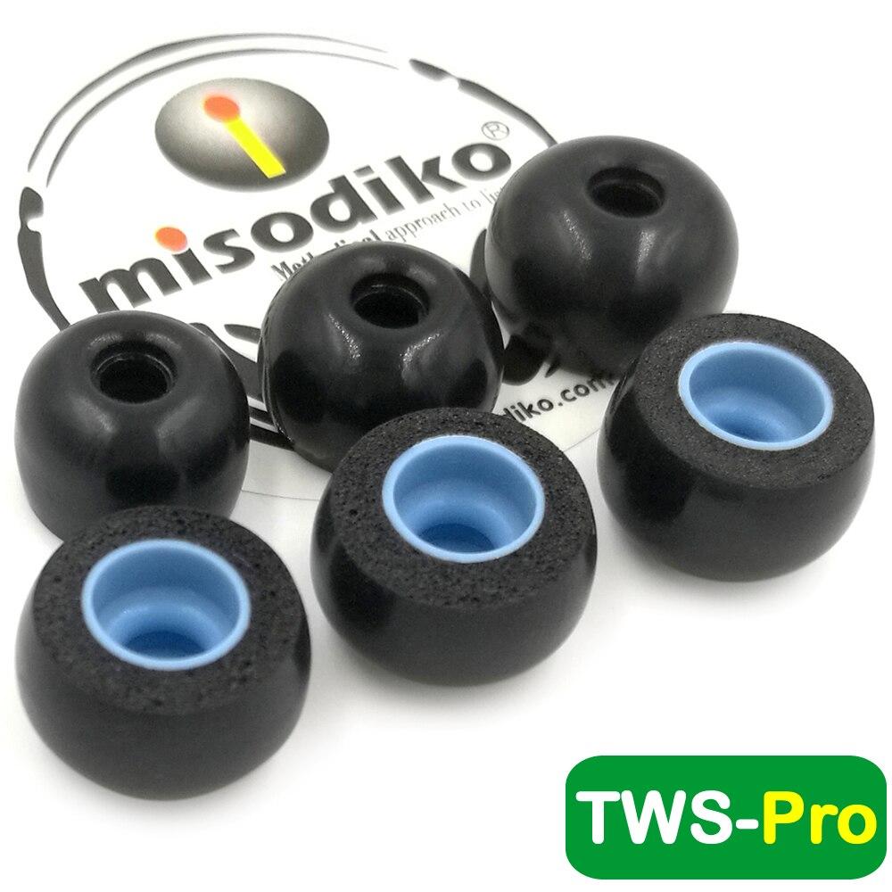 Auriculares de espuma misodiko TWS-Pro con memoria, puntas para auriculares inalámbricos Ture-Mifo O5/Hifiman TWS600/Anker Soundcore Liberty Air 2 Pro