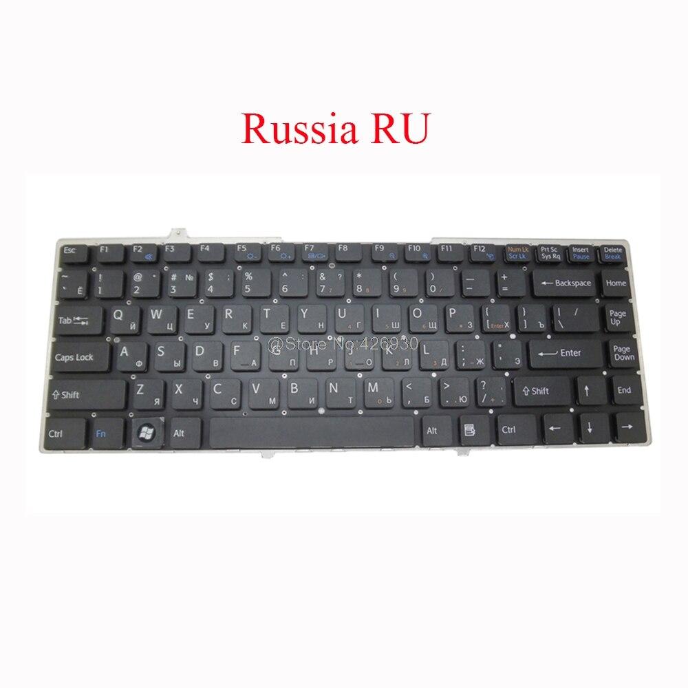 Portátil ru sd sp tr bg ne ele gk fr teclado para sony para vaio VGN-FW vgn fw suécia turquia bulgária nordic itália grego francês novo