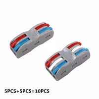 10pcs wire connector color 222 412 413 series cable conectors fast universal wiring compact conductors push in terminal block