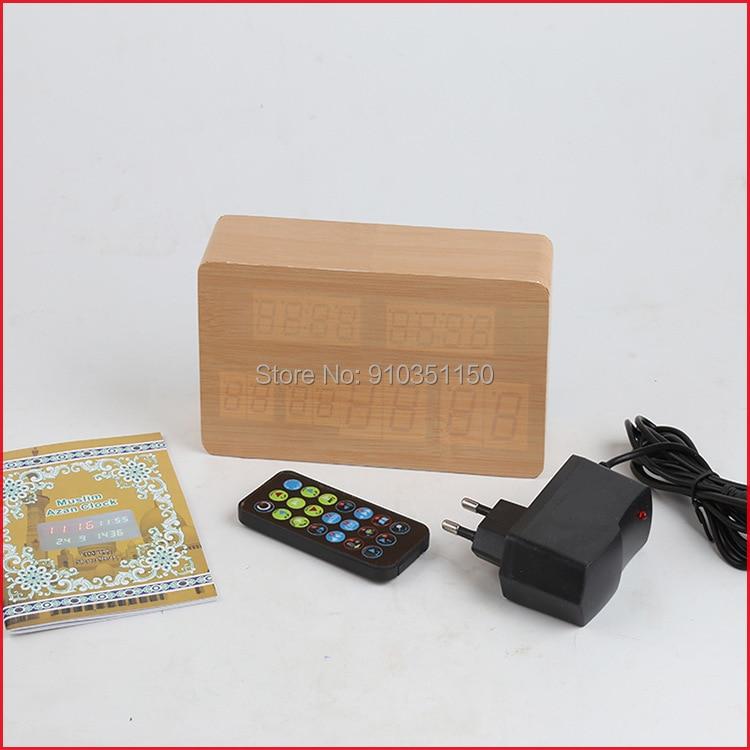 The Muslim prayer clock has a perpetual calendar and an Islamic calendar enlarge