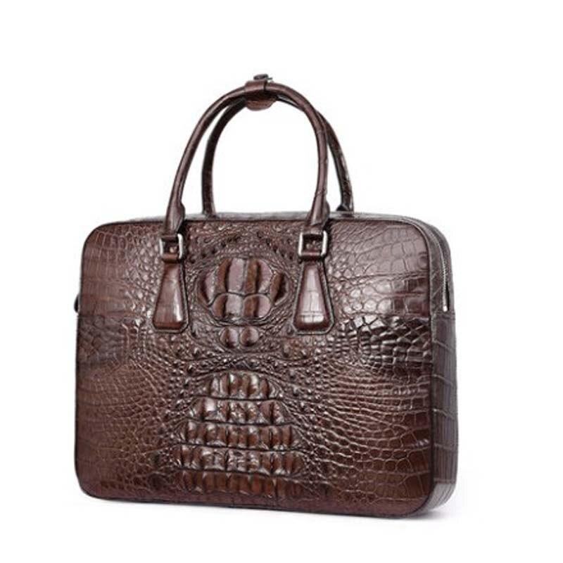 ouluoer thailand  import men crocodile bag business men briefcase men handbag single shoulder bag men bag rocodile leather