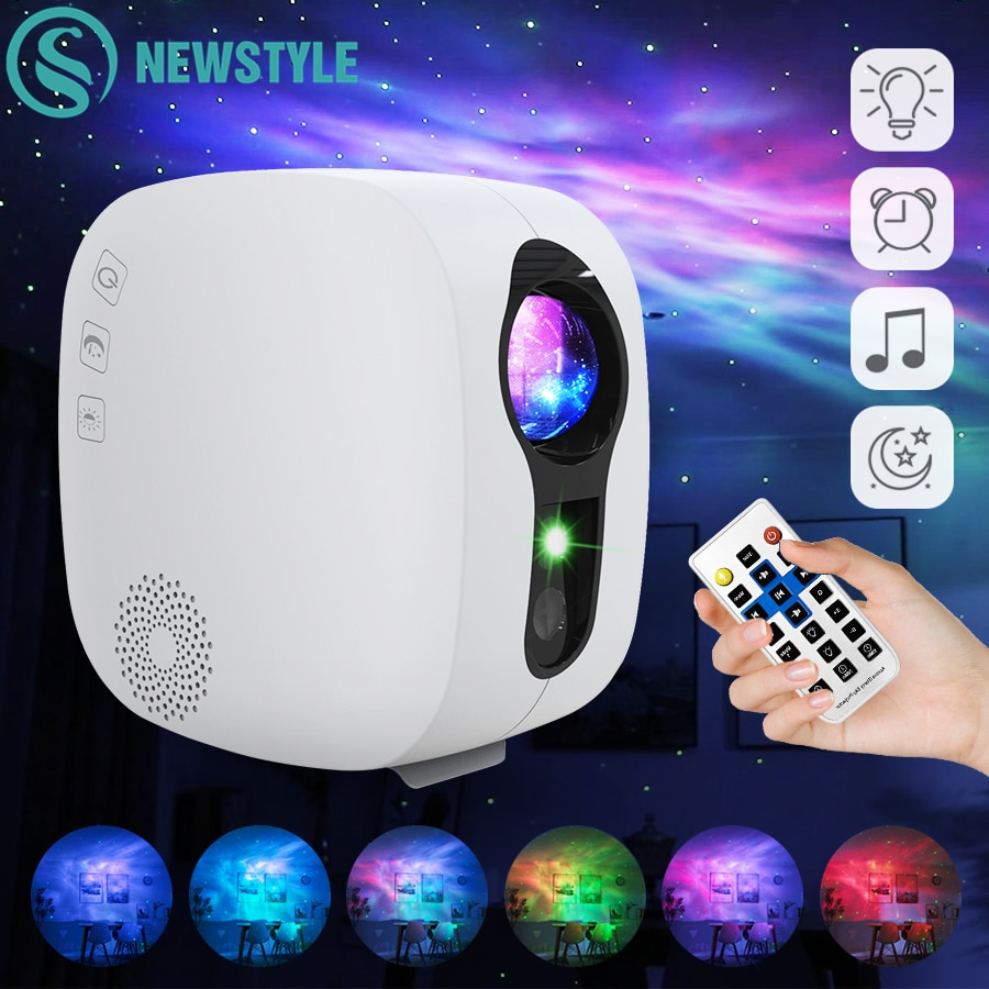 ночник проектор miniland dreamcube 89196 Проектор звездного неба Bluetooth, музыкальный динамик, светодиодный ночник, проектор Galaxy Nebula Ocean Star, лунная лампа, ночник