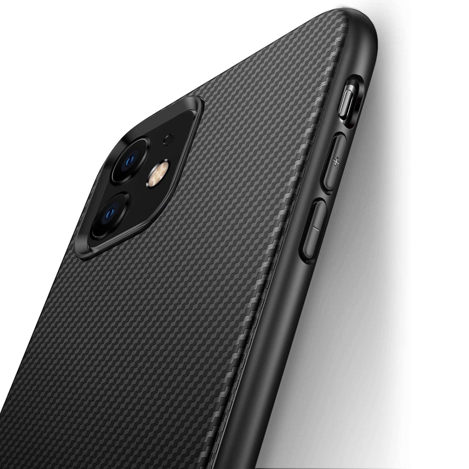 Luxury Carbon Fiber Silicone Case for iPhone 12 mini 11 Pro XR Xs Max Protective Soft Cover for iPho