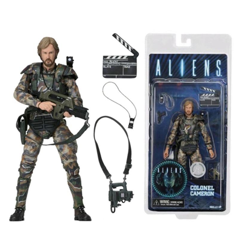 18 см инопланетянин NECA vs фигура хищника, Colonel Cameron фигурка модель игрушка; подарок