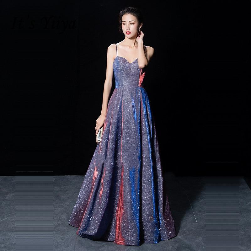 فستان سهرة لامع من ماركة It's Yiiya, فستان سهرة لامع بدون أكمام من ماركة It's Yiiya مزود برباط يصل إلى الأرض من موضة 2020 ، مناسب للحفلات