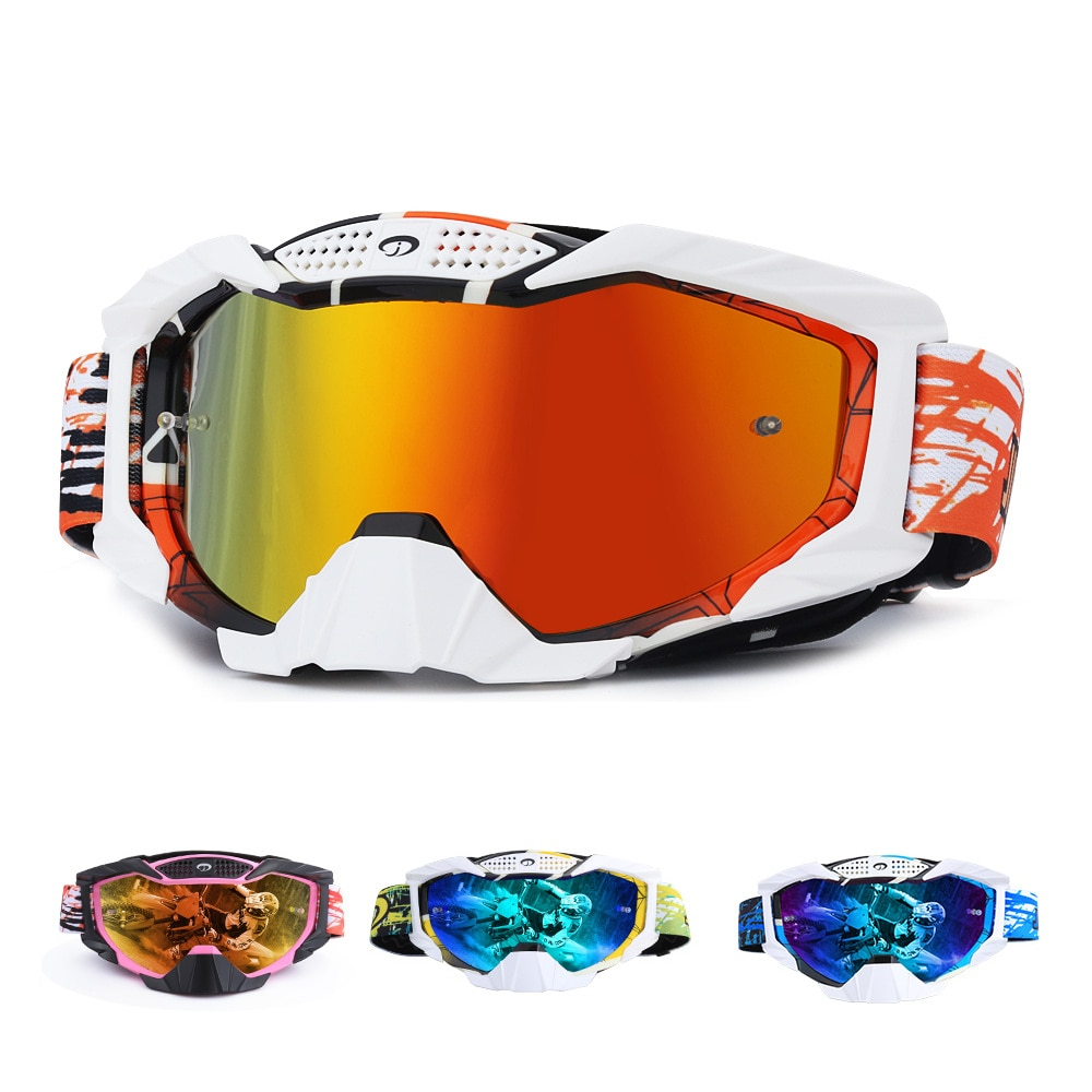 2021 Motorcycle Goggles Outdoor Cycling MX ATV Motocross Helmet Glasses Dirt Bike Gear Surf Ski Off-road Racing Riding Goggles