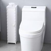 Bathroom Paper Towel Storage Narrow Cabinet PVC 16.5x19.5x67.5 cm Home Furniture