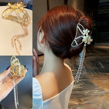Beautiful Butterfly Fringing Metal Hair Claw Clip Hair Barrette Hair Accessories For Girls