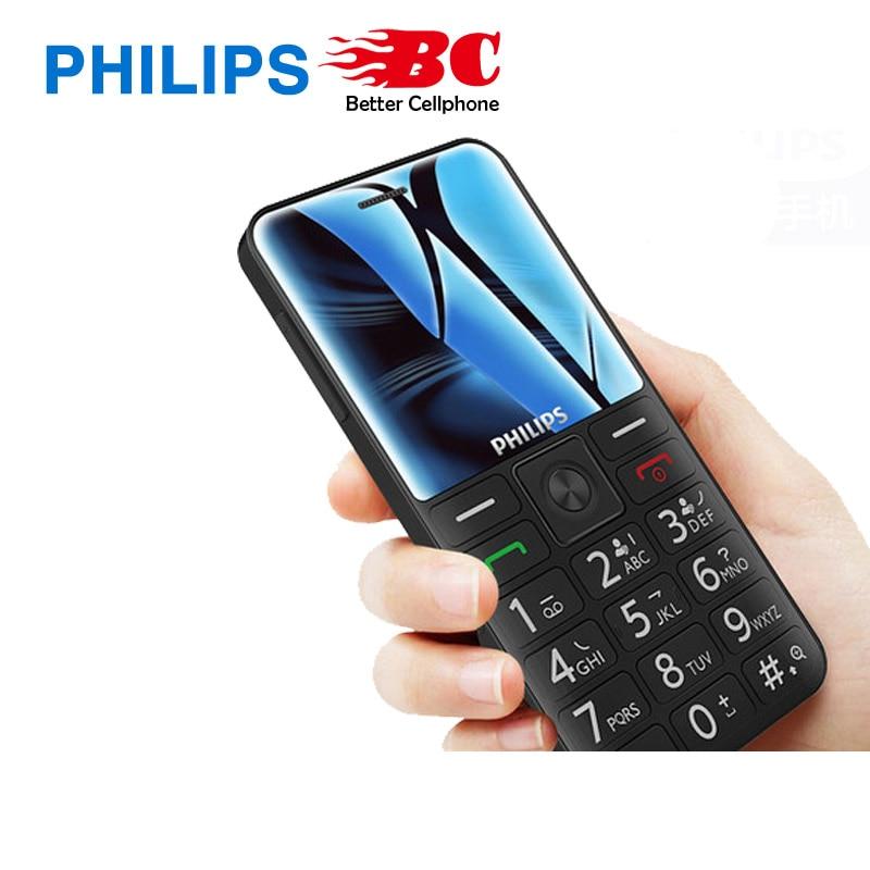 Original Philips E525 old man machine 2.31 inch  phone 1700mAh large screen old man machine supports WIFI   fast shipping