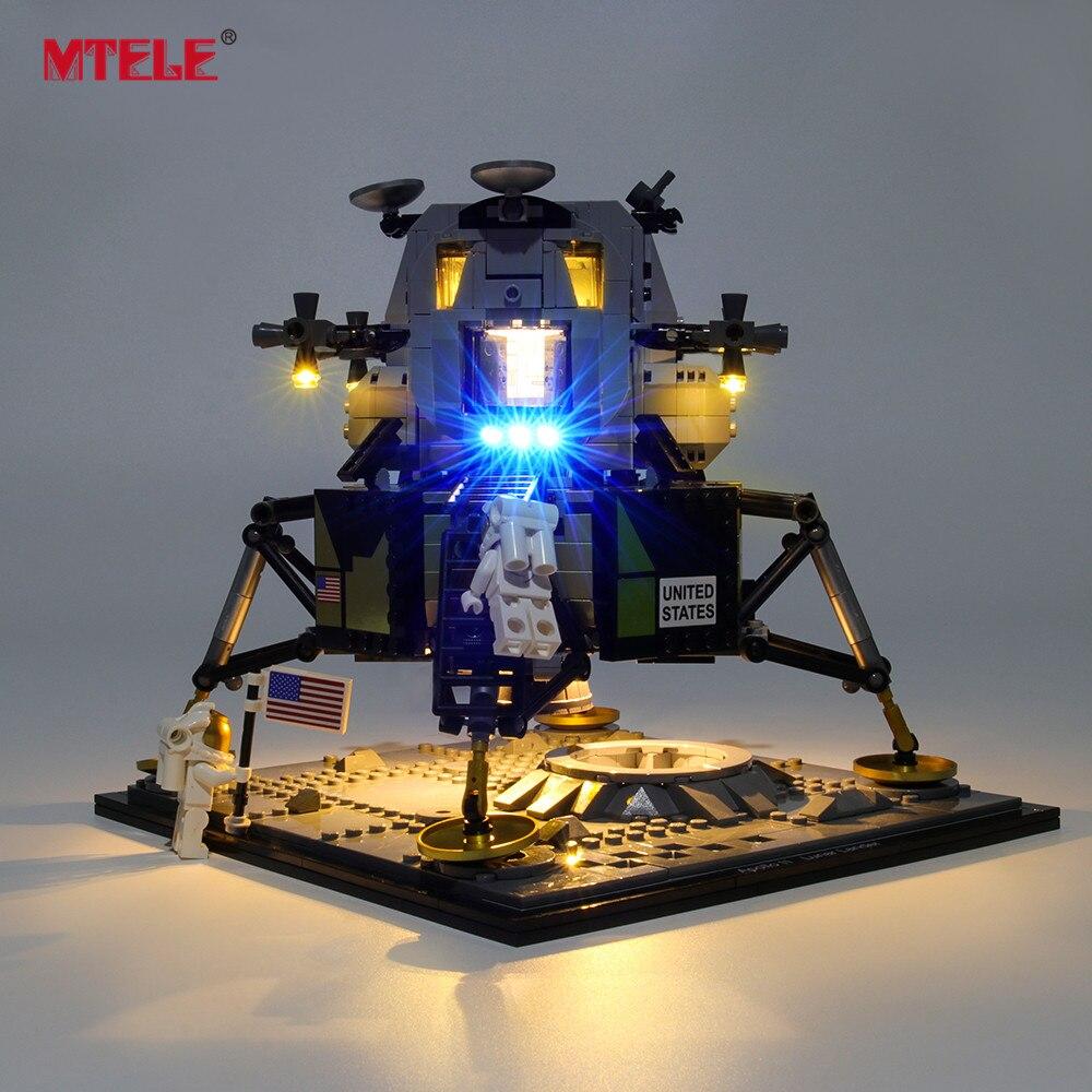 Kit de iluminación LED marca MTELE para Creator Apollo 11 Lunar Lander Lighting Set compatible con 10266