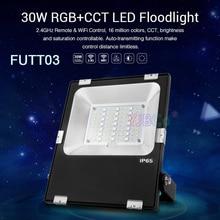 Miboxer 30W RGB + CCT LED 홍수 빛 FUTT03 방수 IP65 야외 램프 정원 공원 정원 조명 AC100 ~ 240V
