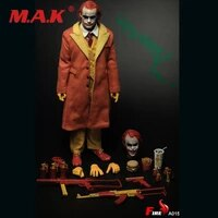 in stock 16 scale a015 uncle hamburger mcdonalds joker double head clothes collectible action figure clown