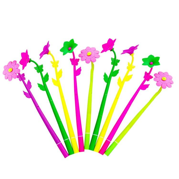 10 шт много модных острых креативных канцелярских принадлежностей сладкий Lucky Bloom завод цветочный узор ручка Шариковая ручка Канцтовары