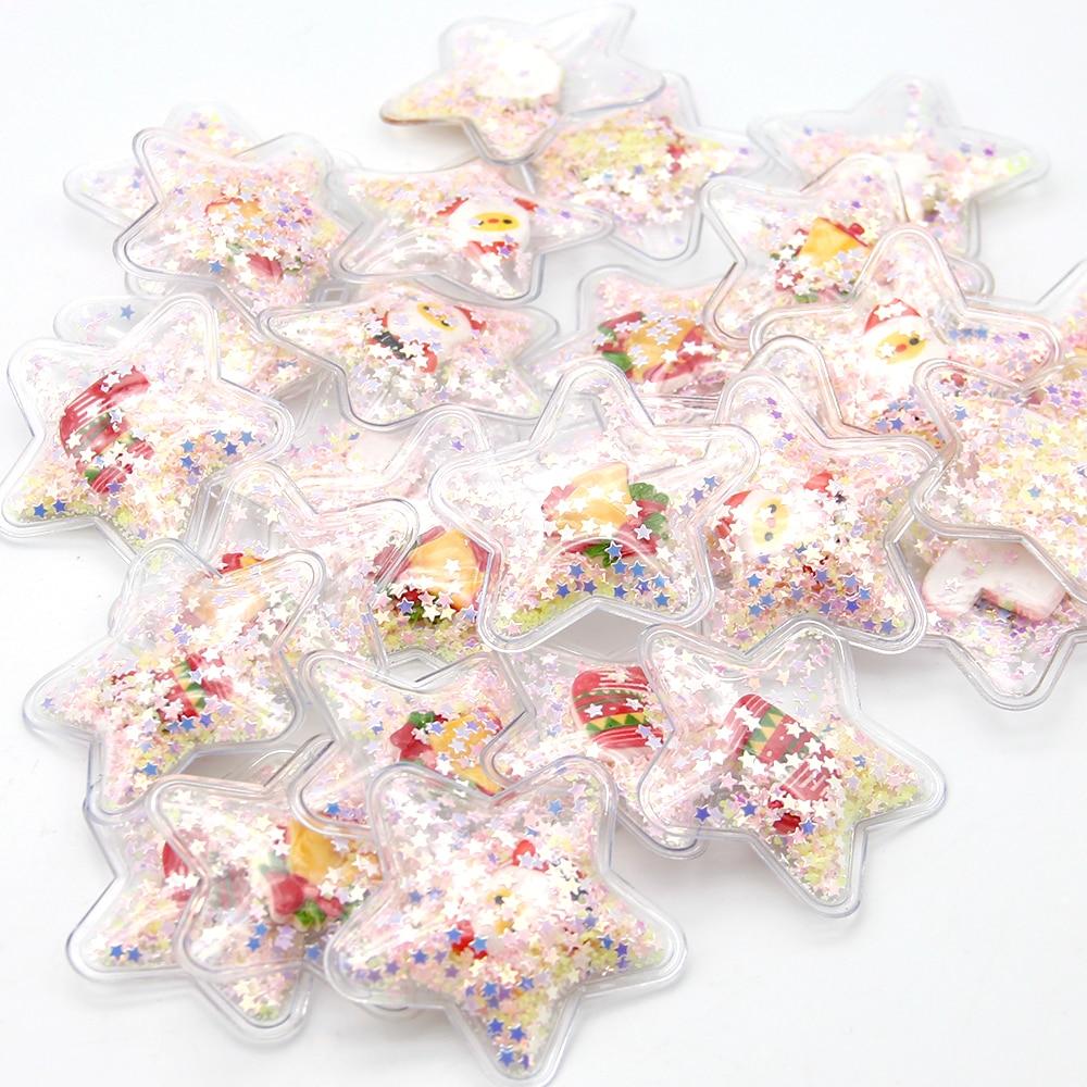 David acessórios de natal 5 pçs transparente shakers bling lantejoulas diy fazer arco do cabelo decoração telefone entrega aleatória, 5yc8235