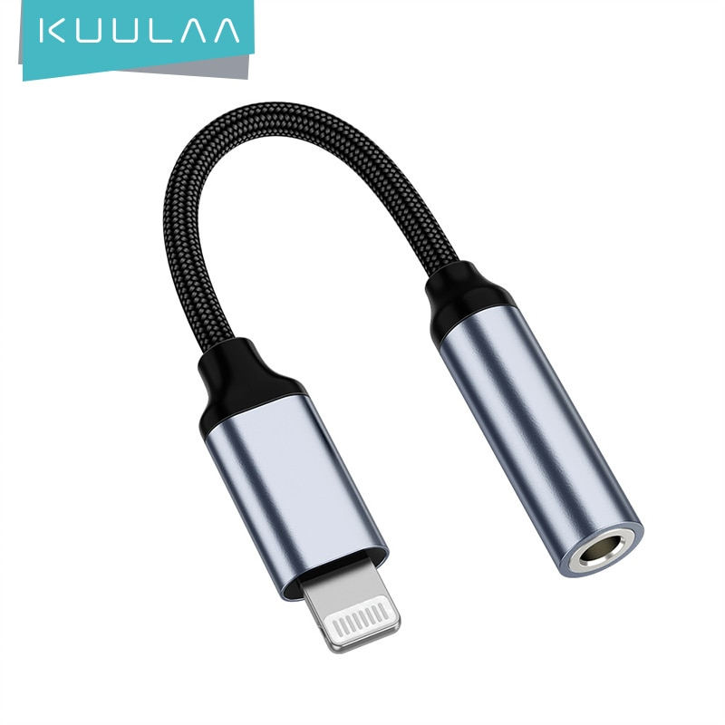 KUULAA Adapter For iPhone to 3.5mm Headphones Adapter For iPhone 11 Pro 8 7 Aux 3.5mm Jack Cable For
