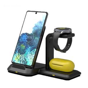 Беспроводные зарядные устройства 3 в 1, Быстрое беспроводное зарядное устройство, док-станция для Samsung Note 20, 10, 9, 8, S10, S9, S8, S7, для Galaxy Watch Active/Buds