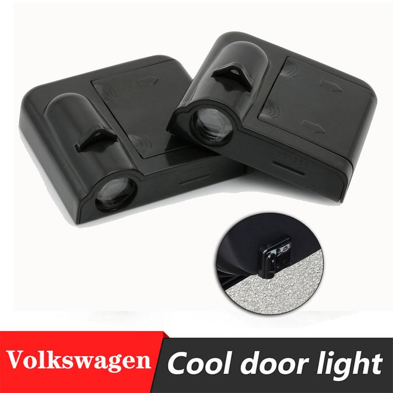 2 pièces voiture porte Logo projecteur lumière 3D bienvenue lumière facile à installer pâte batterie porte lumière pour VW Golf5/6/7 Passat B5 B6 GTI