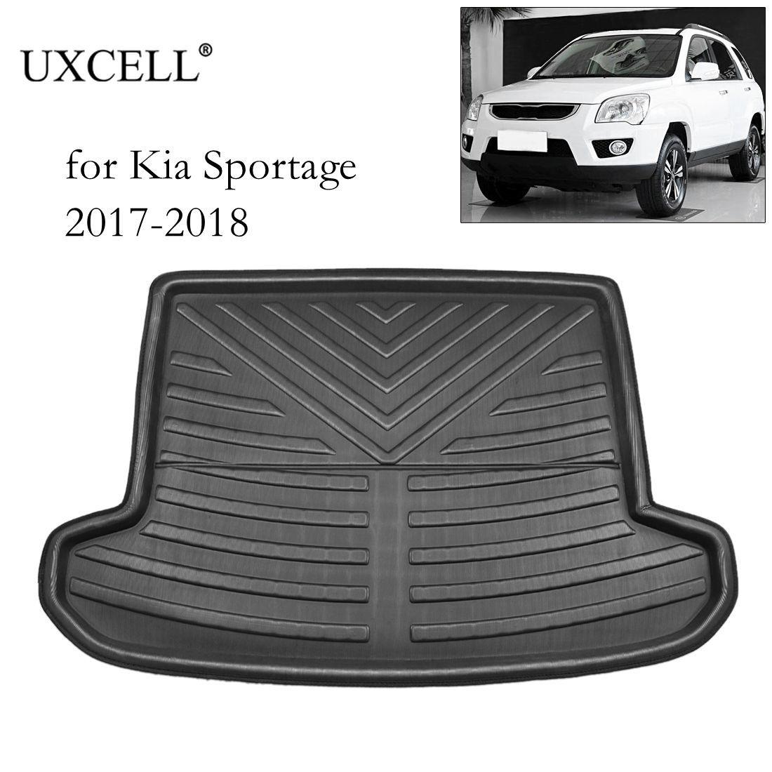UXCELL PE + EVA espuma de plástico negro maletero piso maletero forro Cargo Mat suelo bandeja alfombra para Kia Sportage R K3 2011 a 2018