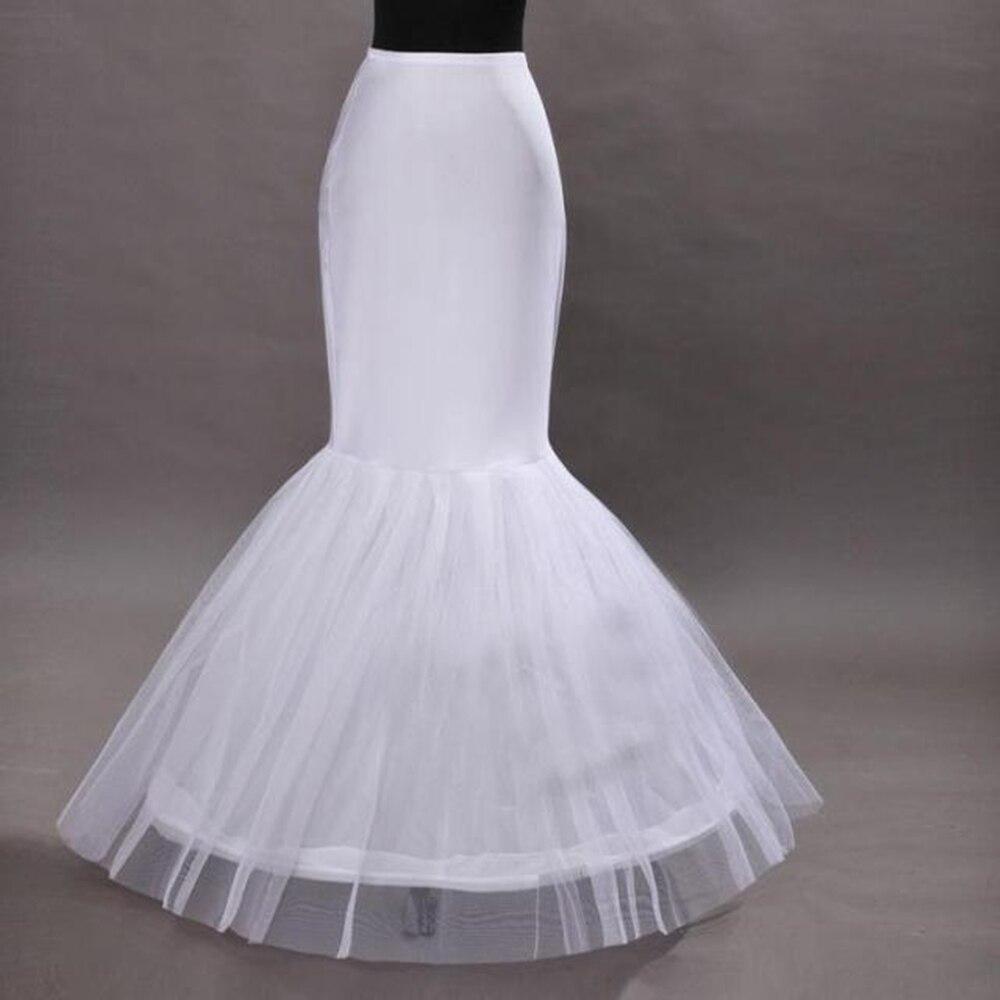 Barato 2020 sirena enaguas vestido de novia Bola con sirenita vestido Slip Floor Length Hoop falda enaguas crinoline bajo la falda