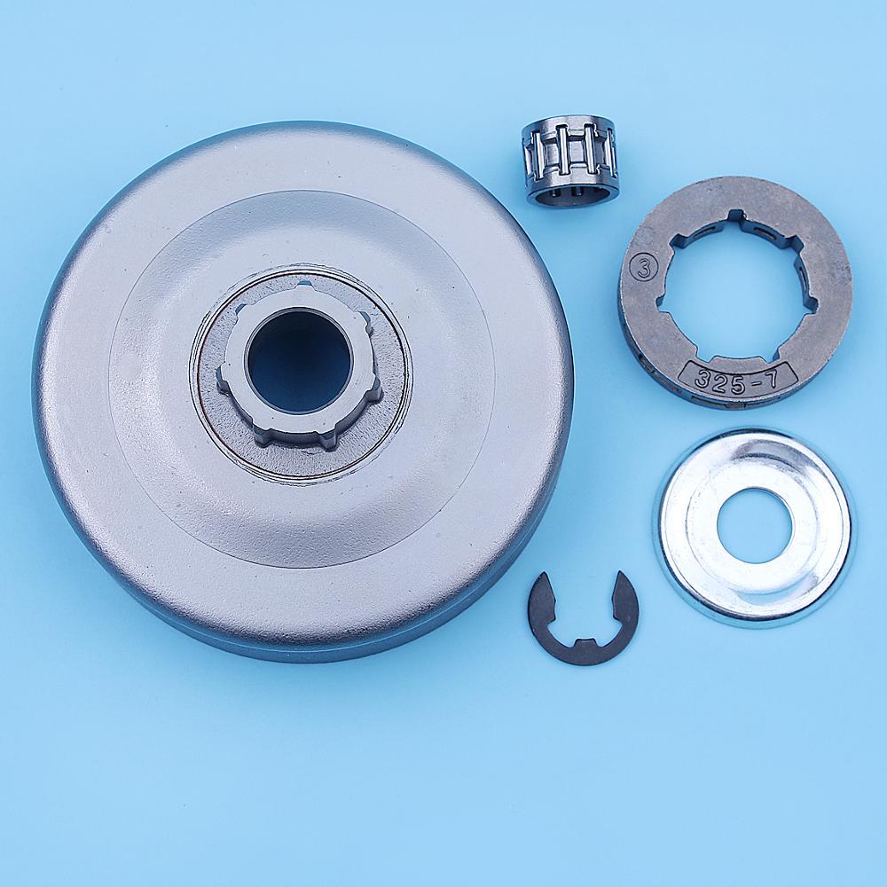 Kit de conversión de rueda dentada de tambor de embrague para Stihl MS270 MS280 MS 270 280 MS270C MS280C motosierra pequeñas 7 piezas de repuesto Spline