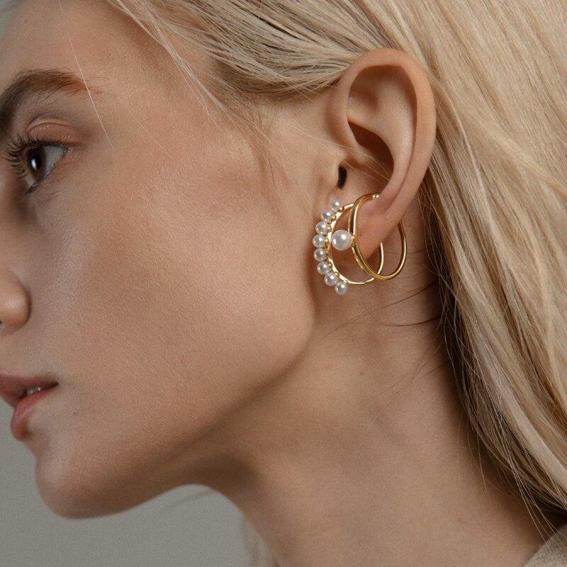 Nuevo diseño de Auricle avanzada francés U-en forma de Clip para hueso del oído sin perforado oreja femenina brazalete temperamento pendientes indoloros