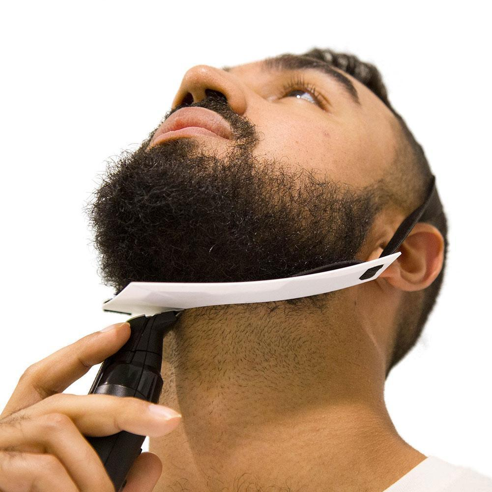 AliExpress - 1 Piece/set Of Men's Beard Contour Styling Tool Styling Back Ruler Beard Care Trimming Neck Beard Board And Chin Y3P6