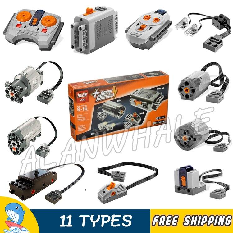 11 arten Techinic Power Funktionen Motorisierte MOC M L XL Servo Motor Batterie Box Abbildung Bausteine Spielzeug Kompatibel Mit