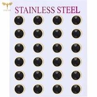 minimalist mens womens earrings geometric round rhinestone earrings kpop jewelry wholesale 12 pairs