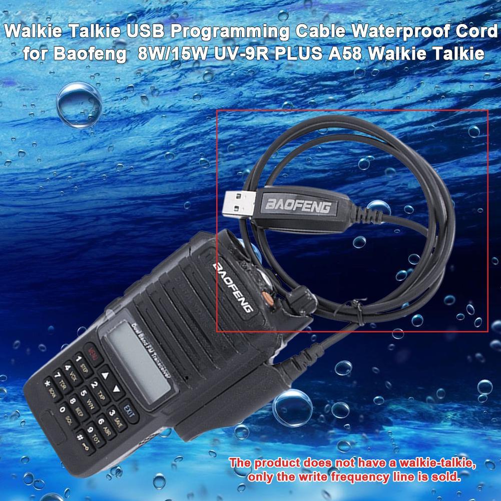 Кабель программируемый USB для рации, водонепроницаемый шнур для Baofeng 8 Вт/15 Вт, UV-9R PLUS A58, аксессуары для портативной рации