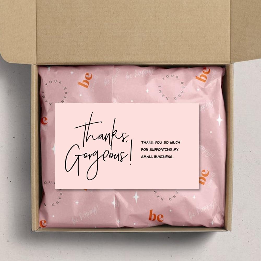 Визитка «великолепное спасибо», 30 цветов