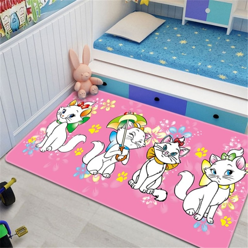 Disney Marie Cat Baby Play Mat 80x160cm Children Game Mat Carpet Bedroom Kitchen Carpet Indoor Bathroom Mat Play Mat Baby Gym