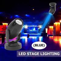 Цветная (RGB) светодиодный сценический прожектор 85-265V 360 градусов KTV бар DJ диско вечерние свадебные атмосфера пятно луча лампы черный корпус